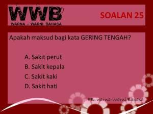 Soalan 25 WWB